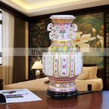 Traditional style Blue and white porcelain Table lamps antique ceramic