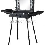 Make up case small table with LED light and mirror DB9660K GLADKING DB9660B
