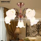 Rose Gold Metal Chandelier Lighting, Wholesale Glass Chandelier Lamp in China MD81295 L5