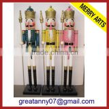 best selling wood crafts wholesale 6ft outdoor wooden carving nutcracker figure