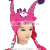 Interesting funny saqueeze winter knitted animal hat,hotsale doll hat,girls' child hat                                                                         Quality Choice