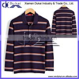 Men's yarn dye strips POLO shirt, Men's long sleeve polo t shirt, POLO shirt for men