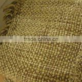 Fancy Acrylic Basket Weave Tassel finishing Throw