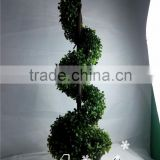 garden decoration artificial spiral tree fake tree topiary tree for square Christmas decoration