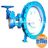double eccentric butterfly valve with best quality for sale