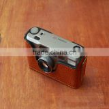 genuine leather cameras case for Contax t2, custom camera case with straps                                                                         Quality Choice