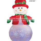 Inflatable Christmas Snowman Christmas decorations venue decoration props built-in colorful snow light