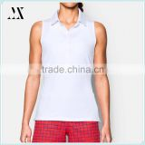 Wholesale Womens Golf Apparel Sleeveless Polo Fitness Sport Wear T-Shirts for Women