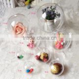 Christmas Ball White Transparent Can Open Plastic Ball Wedding Birthday Party Decoration Festive Gift Hollow Ornament Ball