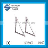 CE stainless steel fireplace chimney accessories for stove triangle bracket chimney pipe fittings