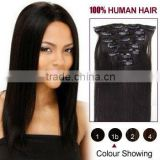 top quality factory price virgin remy human hair weft clip in hair extension for black women