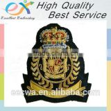 factory produce gold bullion wire embroidery patch