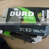 China bicycle tube factory inner tube 700x35c bicycle tube 700 butyl tube DURO