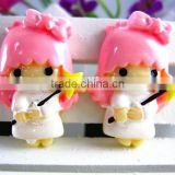 New arrival kawaii resin cartoon characters resin cabochons for kids hair clothes accessaries