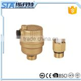 ART.5054 China manufacture high quality heavy type full forged all brass small automatic air vent release valve with brass color
