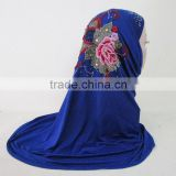 Muslim female fashion silk scarf embroidery all-match hijab