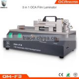 Latest iPhone Broken Glass Replacing Machine OCA Glue Pasting Machine OM-F3