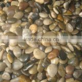polished pebble stone cobbles for road