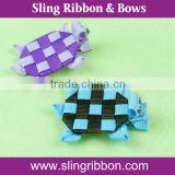 Turtle Of Animal Style Ribbon Hair Bows