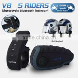 Vnetphone V8 1200m 5 riders Full Duplex Talking Wireless Bluetooth Soccer Referee Communication Intercom with remote control