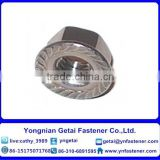 high quality carbon steel DIN 6923 M8 hexagon flange nut