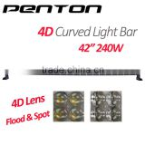 Penton High Quality 42'' 240w 4D Lens Bar High Power Car Roof Rack Led Light Bar with CE RoHs
