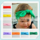 Wholesale Baby Girls Toddler Stretch Ear Turban Knot Hairband Rabbit Bow Headband Newest