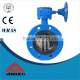 10 inch Cast Iron Double Flange Center Line Butterfly Valve