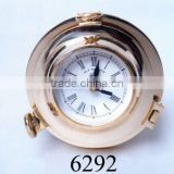 nautical brass clock, wall clock