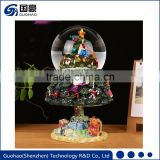 Christmas ornaments resin Christmas tree music snow globe