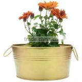 indian gold plated flower decor planters