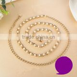 Factory Wholesales Cheap Women Waist Chain, Golden Fashion Waist Chain Belt for Women Dress