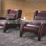 Bisini Genuine Leather Single Seat Sofa (BG90458)