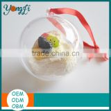 Food Grade Round Ball Plastic Containers For Cupcakes