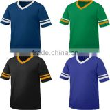 Sports Jersey Summer Cool Men Tee Cotton Sportswear Knit Contrast Two Tone Stripe Sleeve T Shirt Football Jersey New Model