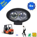Safety blue point led work light 6w 10-110v led forklift warning lights bule light forklift