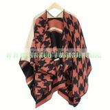 2017 New trendy China factory ladies rayon reversible echarpe shawl cover up scarf jacquard feather rainbow pashmina poncho