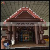 special customized inflatable wooden house , inflatable log cabin , inflatable frame house