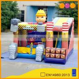 AOQI hard-wearing quality fanstastic big inflatable builders combo