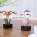 deer and rabbit aniaml glasses stand resin crafts for home decoration