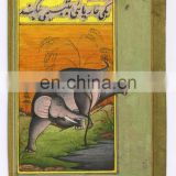Indian Wild Animal Wild Life Scene Elephant Hand Painted Water Color Original Paper Painting