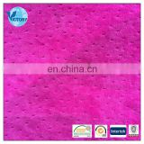 100% Polyester Jacquard Velvet Fabric Steam Imitation Cotton Velour for Sportswear,Garment,etc.