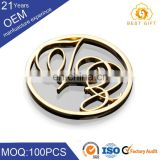 Guangzhou factory Custom printed metal round button badge with safe pin