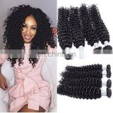 Deep Curl Natural Color Best Selling Good Feedback Virgin Brazilian Human Hair Bundles hair weft