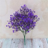 New Style Artificial Flower Red Babysbreath 5 Branches Encryption Gypsophila For Office Decoration