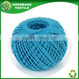 2015 new recycled open end yarn manufacturer Exhibition of 2ply blue color cotton twine yarn ball yarn wholesale china HB972
