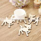 eco friendly handmade china factory custom sheep/pumpkin mug cup laser cut place mat material wooden dining table ware