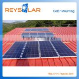 Steel Metal Sheet Roof Solar Panel Mounting Structure Lightweight Galvanized Steel Frame