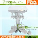 TR-M500 Cart Type Dental Delivery System, Manual Elevation, Tap/Purified Water Available dental mobile cart