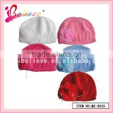 High quality baby girls hat,baby knitted flower hat,funny bucket hat wholesale